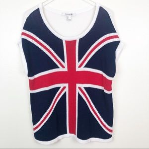 FOREVER 21 l Great Britain Flag Knit  Pullover